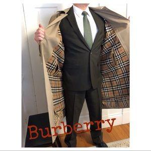 MENS BELT-LESS BURBERRY CLASSIC TRENCH COAT